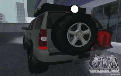 Chevrolet Tahoe para la visión correcta GTA San Andreas