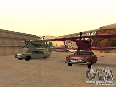 Auto-avión para la visión correcta GTA San Andreas