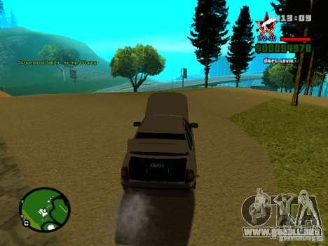 Lada Priora para vista lateral GTA San Andreas