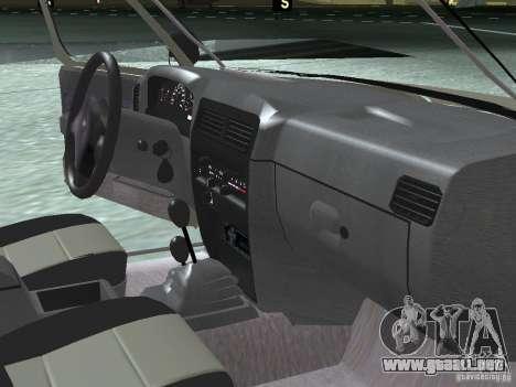Nissan Frontier para vista lateral GTA San Andreas