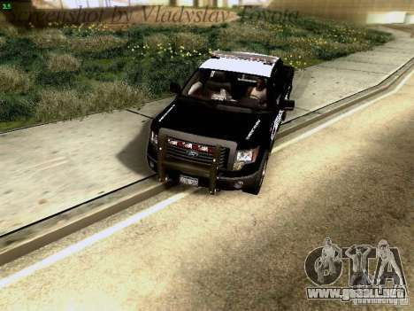 Ford F-150 Interceptor para visión interna GTA San Andreas