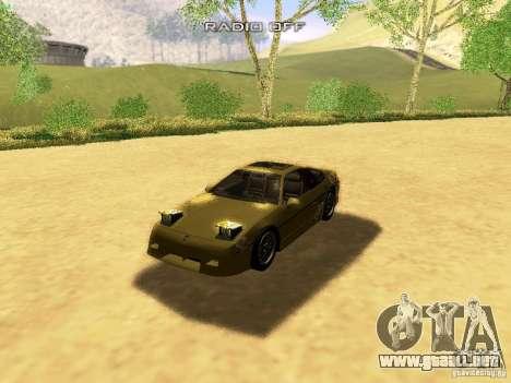 Pontiac Fiero V8 para GTA San Andreas interior