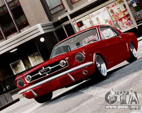 Ford Mustang GT MkI 1965 para GTA 4 left