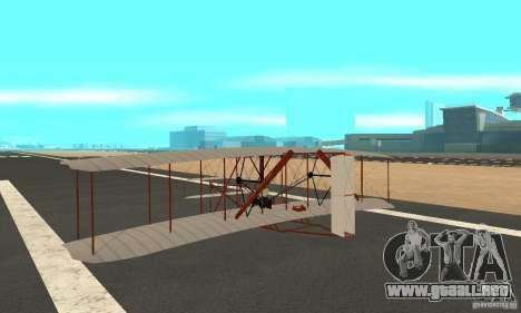 The Wright Flyer para GTA San Andreas vista posterior izquierda