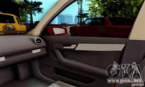 Audi A3 Sportback 3.2 Quattro para GTA San Andreas vista hacia atrás