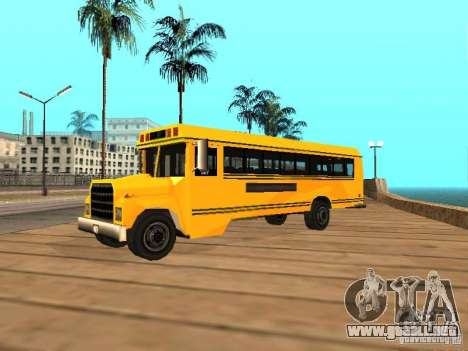 School bus para GTA San Andreas left