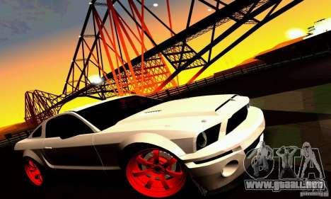 Shelby GT500 KR para las ruedas de GTA San Andreas