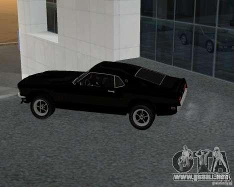 Ford Mustang Boss 1969 para GTA San Andreas left