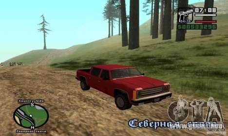 Rancher 4 Doors Pick-Up para GTA San Andreas vista hacia atrás
