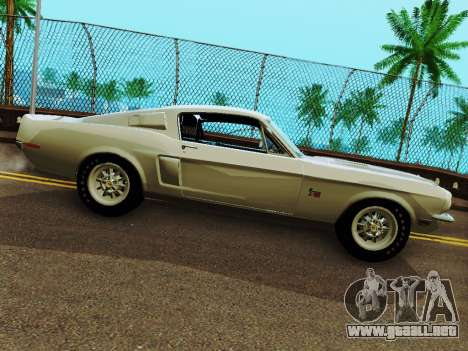 Shelby GT 500 KR para GTA San Andreas left