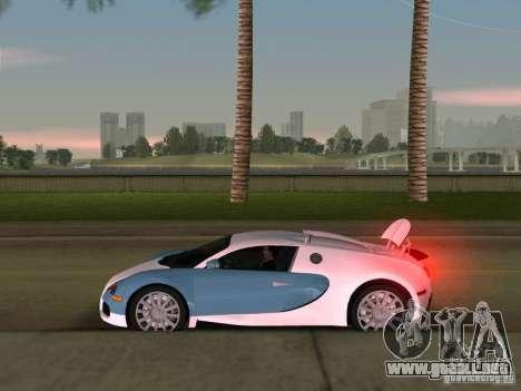 Bugatti Veyron EB 16.4 para GTA Vice City vista posterior