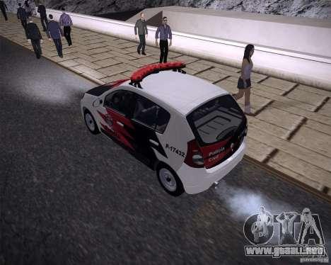 Renault Sandero Policia para GTA San Andreas left