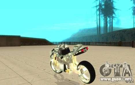 New NRG Chrome version para GTA San Andreas vista posterior izquierda