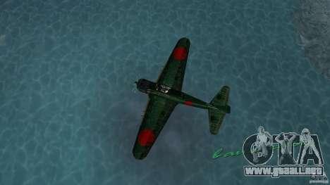 Zero Fighter Plane para GTA Vice City vista lateral izquierdo