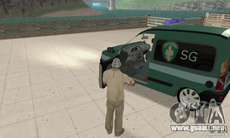 Renault Kangoo Straz Graniczna para GTA San Andreas vista hacia atrás