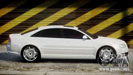 Audi S8 D3 2009 para GTA 4 vista lateral