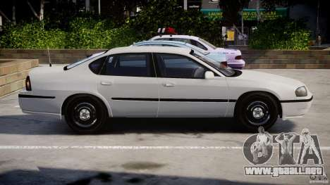 Chevrolet Impala Unmarked Police 2003 v1.0 [ELS] para GTA 4 left