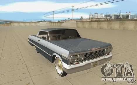 Voodoo para GTA San Andreas vista hacia atrás