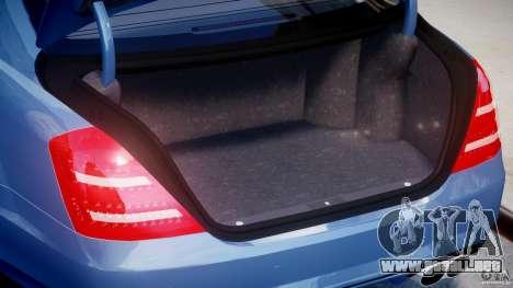 Mercedes-Benz S63 AMG [Final] para GTA 4 vista desde abajo