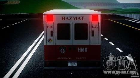 LCFD Hazmat Truck v1.3 para GTA motor 4