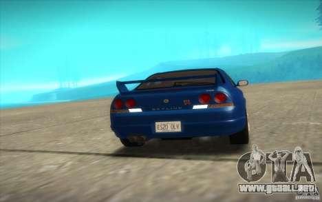 Nissan Skyline R33 GT-R V-Spec para visión interna GTA San Andreas