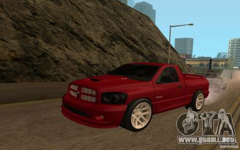 Dodge Ram SRT-10 para GTA San Andreas vista hacia atrás