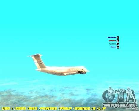 Lockheed C5-M Super Galaxy para GTA San Andreas left