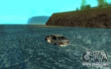 Honda Civic Mugen RR Boat para GTA San Andreas vista posterior izquierda
