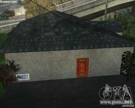New Ryder House para GTA San Andreas quinta pantalla