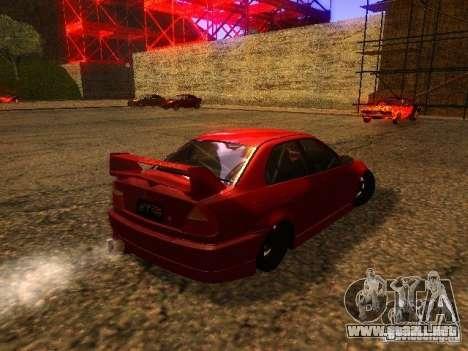 Mitsubishi Lancer Evolution VI GSR 1999 para la visión correcta GTA San Andreas