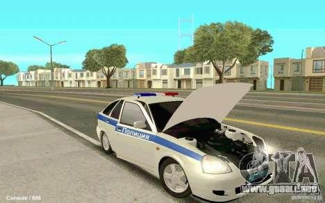 Lada Priora DPS para la visión correcta GTA San Andreas