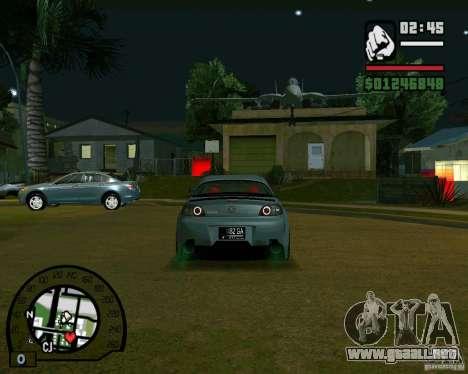 Mazda RX8 JDM Style para la visión correcta GTA San Andreas