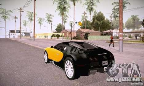 Bugatti Veyron 16.4 EB 2006 para GTA San Andreas vista posterior izquierda