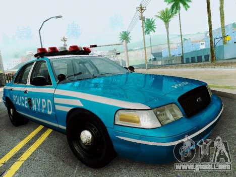 Ford Crown Victoria 2003 NYPD Blue para GTA San Andreas vista hacia atrás