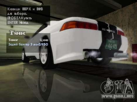 Toyota MR2 GT para vista inferior GTA San Andreas
