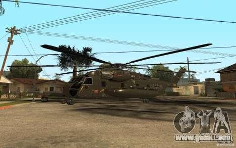 CH 53 para GTA San Andreas vista hacia atrás