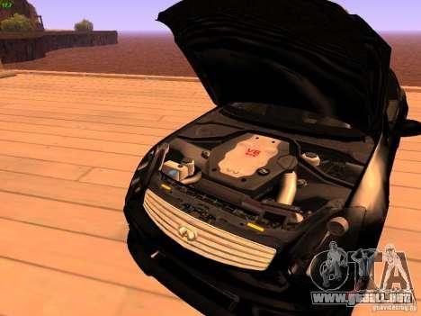 Infiniti G35 V.I.P para la vista superior GTA San Andreas
