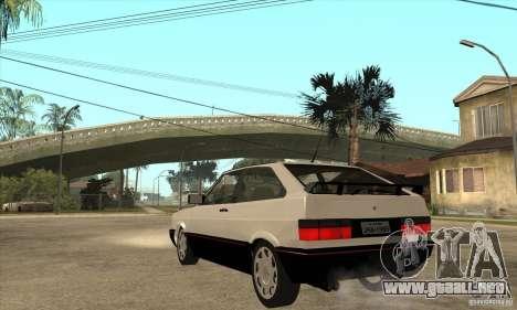 VW Gol GTS 1989 para GTA San Andreas vista posterior izquierda