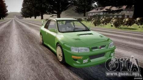 Subaru Impreza 22b 1998 (final) para GTA 4 vista hacia atrás