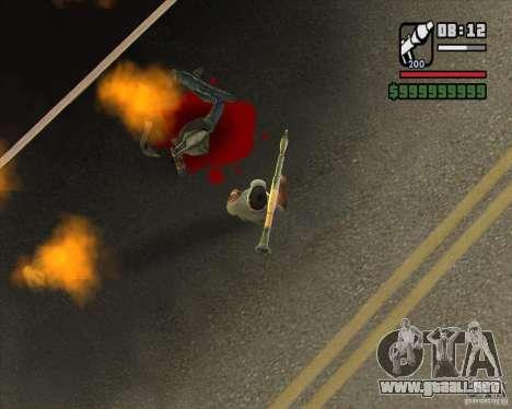 Real Ragdoll Mod Update 2011.09.15 para GTA San Andreas sucesivamente de pantalla