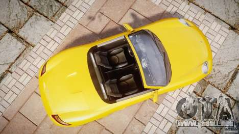 Porsche Boxster S para GTA 4 visión correcta