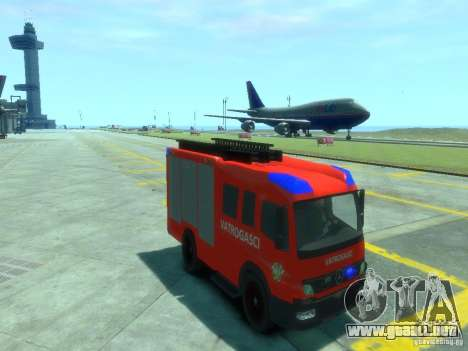 Mercedes-Benz Atego Fire Departament para GTA 4 vista hacia atrás