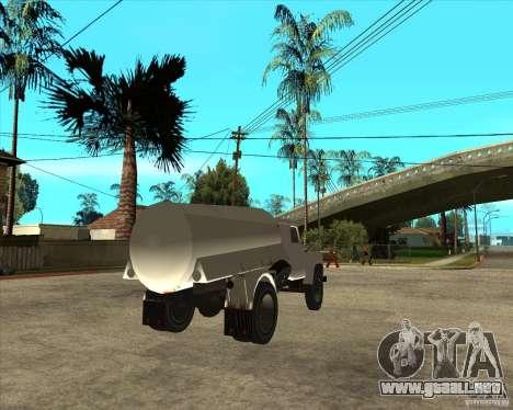 Camión de combustible Gaz-52 para GTA San Andreas vista posterior izquierda