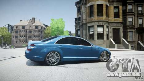 Mercedes Benz w221 s500 v1.0 sl 65 amg wheels para GTA 4 left