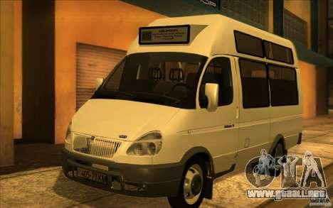Gacela SPV-16 Rue para GTA San Andreas