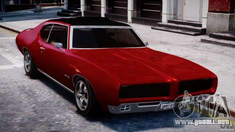 Pontiac GTO 1965 v1.1 para GTA 4 vista hacia atrás