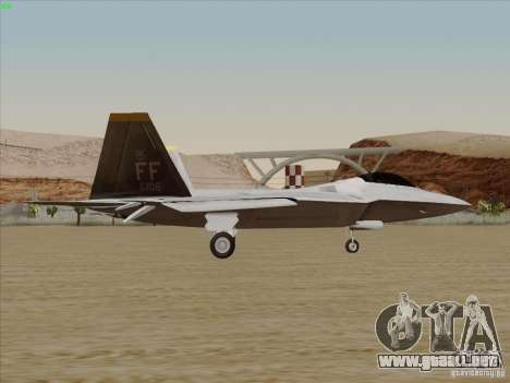 FA22 Raptor para GTA San Andreas left