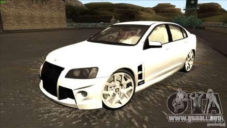 Holden HSV W427 para GTA San Andreas left