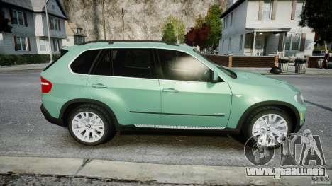 BMW X5 Experience Version 2009 Wheels 223M para GTA 4 vista lateral