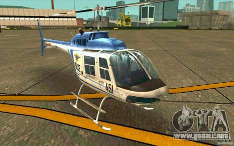 Bell 206 B Police texture1 para GTA San Andreas left